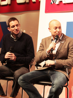 Oliver Gavin and Rob Huff, on the Autosport Stage