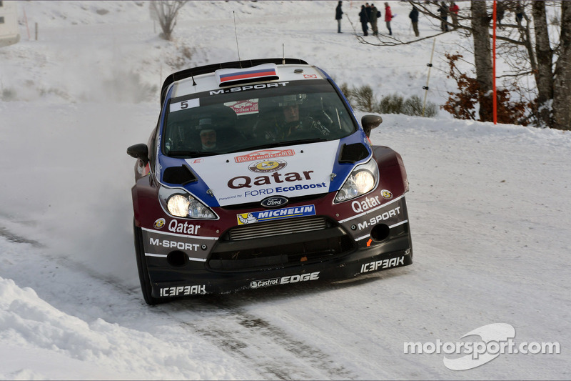 Evgeny Novikov and Ilka Minor, Ford Fiesta WRC, Qatar M-Sport WRC