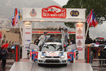 Podium: second place Sbastien Ogier and Julien Ingrassia, Volkswagen Motorsport