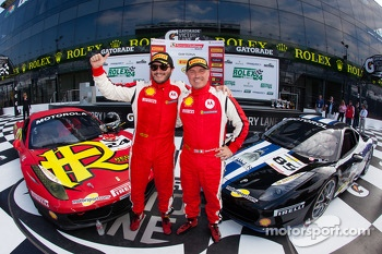 Trofeo Pirelli winner #24 Auto Gallery Ferrari 458: Carlos Kauffmann, Coppa Shell winner #85 Auto Gallery Ferrari 458: John Farano