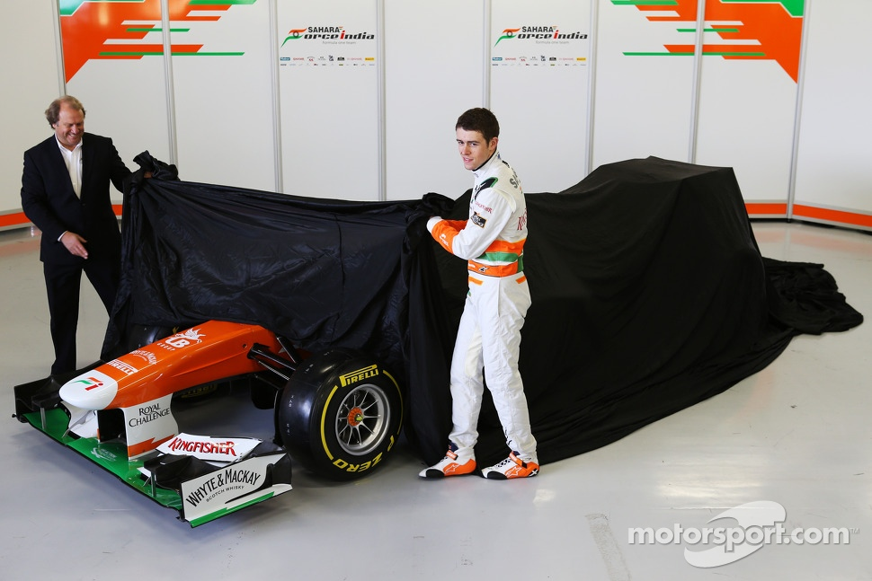 Bob Fernley and Paul di Resta, Sahara Force India F1 Team unveil the VJM06