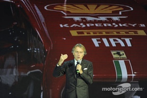 Luca di Montezemolo with the Ferrari F138