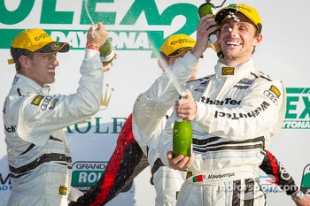 GT podium: champagne for Filipe Albuquerque