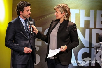Cline Geraud with Patrick Dempsey