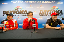 Press conference: Rich Baek, Ferrari North America's Marco Mattiaci, Robert Herjavec