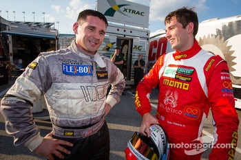 GT pole winner Nick Tandy with Andy Lally