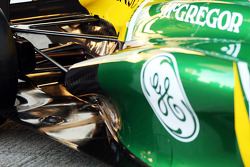 Caterham CT03 rear suspension and exhaust detail