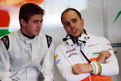 James Rossiter, Sahara Force India F1 Simulator Driver with Gianpiero Lambiase, Sahara Force India F1 Engineer