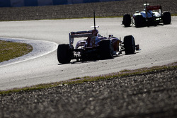 Jenson Button, McLaren MP4-28 leads Felipe Massa, Ferrari F138
