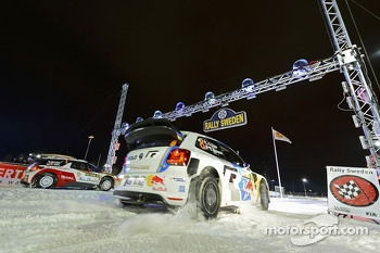 Sbastien Loeb and Daniel Elena, Citron DS3 WRC, Citron Total Abu Dhabi World Rally Team versus Sbastien Ogier and Julien Ingrassia, Volkswagen Polo WRC, Volkswagen Motorsport