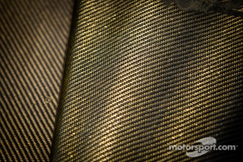 Carbon fiber and bodywork detail for #6 Muscle Milk Pickett Racing HPD ARX-03c Honda