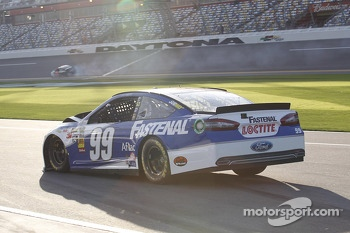 Carl Edwards, Roush Fenway Racing Ford involved in a crash