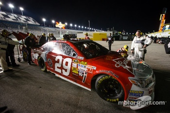 Winning car of Kevin Harvick, Richard Childress Racing Chevrolet at post-race technical inspection