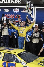 Victory lane: race winner John Wes Townley