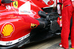 Scuderia Ferrari F138 running sensor equipment at the exhand rear suspension