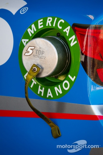 Fuel cap on the car of Kasey Kahne, Hendrick Motorsports Chevrolet