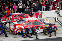 Pit stop for David Reutimann, BK Racing Toyota