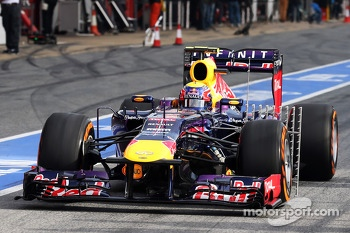 Mark Webber, Red Bull Racing RB9 running sensor equipment