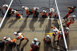 Sahara Force India F1 Team practices pit stops