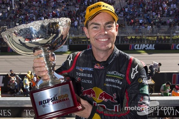Podium: race winner Craig Lowndes, Red Bull Holden