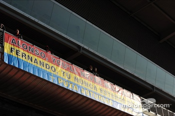 Banner for Fernando Alonso, Ferrari