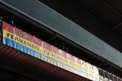 Banner for Fernando Alonso, Ferrari