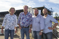 James May, Jeremy Clarkson, Shane Jakobson en Steve Pizzati