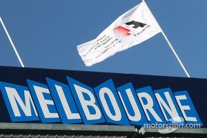 Melbourne track sign