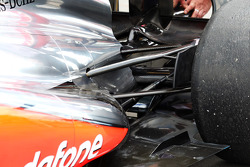 McLaren MP4-28 exhaust and rear suspension detail