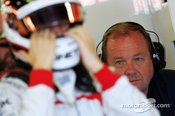 Grahame Chilton, looks on at his son Max Chilton, Marussia F1 Team