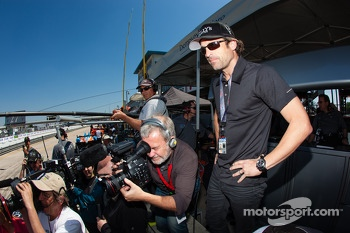 Patrick Dempsey GTC pole winning celebrations