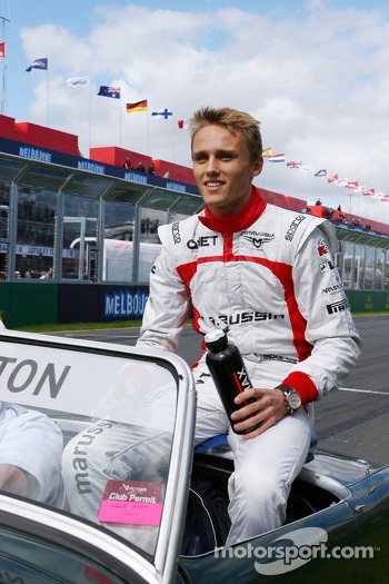 Max Chilton, Marussia F1 Team on the drivers parade