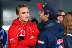 (L to R): Max Chilton, Marussia F1 Team and Daniel Ricciardo, Scuderia Toro Rosso on the drivers parade
