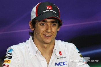 Esteban Gutierrez, Sauber in the FIA Press Conference