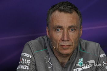 Bob Bell, Mercedes AMG F1 Technical Director in the FIA Press Conference