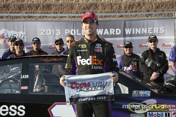 Polesitter Denny Hamlin, Joe Gibbs Racing Toyota