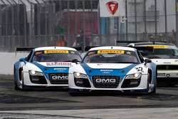 Bret Curtiss, Global Motorsports Group/Spectra Resources/United Steel Audi R8 & Duncan Ende, Global Motorsports Group/STANDD.org/Merchant Services Audi R8