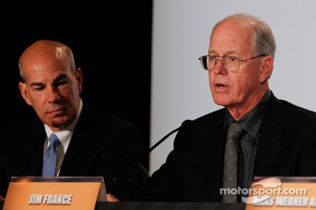 Scott Atherton, President and CEO of American Le Mans Series and Jim France, Executive Vice President/Secretary, NASCAR