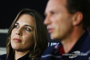 Claire Williams, Williams Deputy Team Principal and Christian Horner, Red Bull Racing Team Principal in the FIA Press Conference