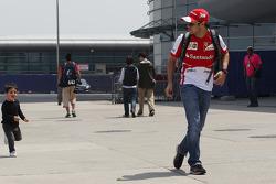 Felipe Massa, Ferrari with his son Felipinho