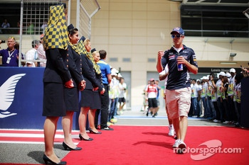 Sebastian Vettel, Red Bull Racing on the drivers parade