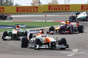 Paul di Resta, Sahara Force India VJM06 and Adrian Sutil, Sahara Force India VJM06