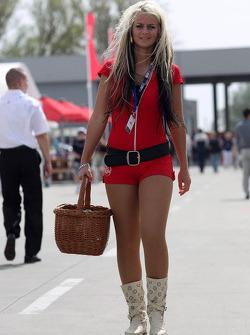 Girl in the paddock