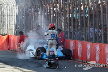 Trouble for Simon Pagenaud, Schmidt Peterson Motorsport Honda