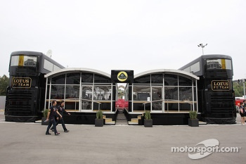 Lotus F1 Team motorhome