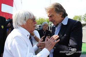 (L to R): Bernie Ecclestone, CEO Formula One Group, with Luca di Montezemolo, Ferrari President