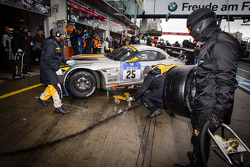 Pit stop for #25 Marc VDS Racing BMW Z4 GT3 (SP9): Maxime Martin, Andrea Piccini, Yelmer Buurman, Richard Göransson