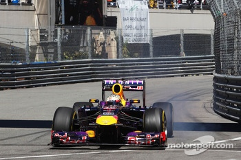 Sebastian Vettel, Red Bull Racing RB9 locks up under braking