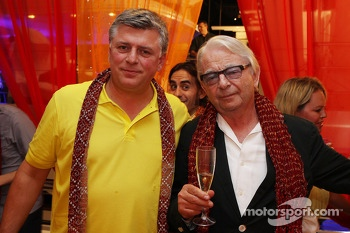(L to R): Otmar Szafnauer, Sahara Force India F1 Chief Operating Officer with Jan Mol, at the Signature F1 Monaco Party
