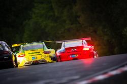 #50 Manthey-Racing Porsche 911 GT3 R (SP9): Marco Holzer, Nick Tandy, Jörg Bergmeister, Richard Lietz, #77 Raceunion Teichmann Racing Porsche 911 GT3 Cup (SP7): Jos Menten, Stefan Landmann, Stef Vancampenhoud
